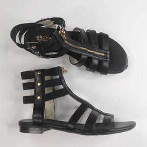 Michael Kors Black Codie Gladiator Sandal Size 6